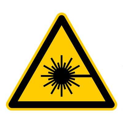 Hinweis Symbol für Lasersysteme